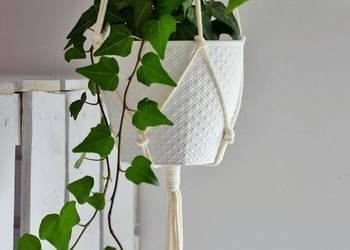 Kwietnik makrama, wiszący- Naturalny minimalistic