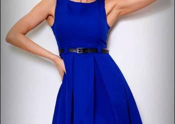 jokastyl CHABROWA rozkloszowana sukienka PASEK M 38