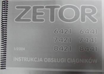 Instrukcja obsługi Zetor PROXIMA 6421,6441,7421,7441,