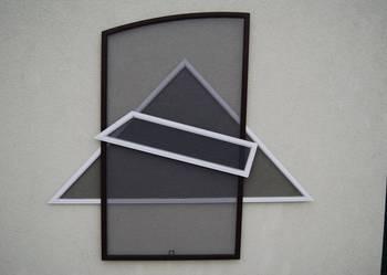 Moskitiera trójkątna trójkąt siatka na okno na wymiar trapez
