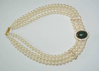 Naszyjnik-stara ,wiedenska sztuczna bizuteria , perly