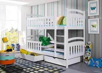 Łóżko piętrowe 2-osobowe TOMEK 80x180 + materace