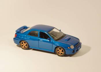 SUBARU IMPREZA WRX model samochodu 19cm