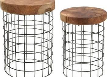 Designerskie stołki Ażurki  - Hoker  - drewniany stołek
