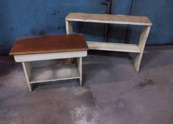 Stare drewniane ławki 2 szt.
