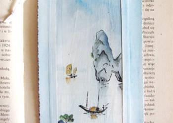 Zakładka do książki - malowane na jedwabiu - nr  7