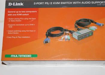 D-Link KVM-121 przełącznik auto 2x.