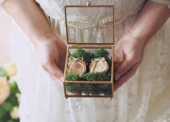 Szklana szkatułka na obrączki - biżuterię