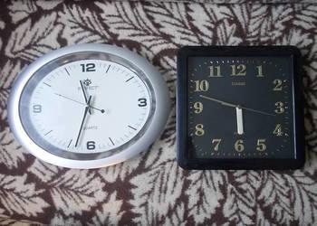 Dwa zegary ścienne, KWADRATOWY I OWALNY, Biały i czarny
