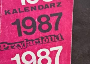 Kalendarz Przyjaciółka 1987