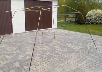 Konstrukcja metalowa namiotu ogrodowego