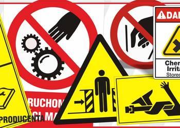 Zaawansowane naklejki ostrzegawcze na maszyny - Sprzedajemy.pl ZZ33