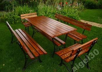 ZESTAW MEBLE OGRODOWE 170 CM stół 2x ławka 2x fotel