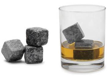 Kamienne kostki do Whisky gadzet dla dżentelemnow 9 sztuk