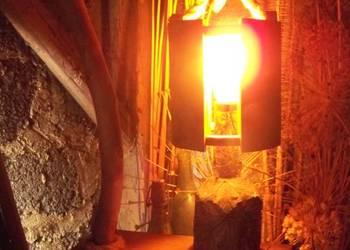 Lampa stojąca rustykalna handmade upcykling loft zero waste