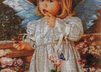 Aniołek wzór do wyszycia haftem krzyżykowym