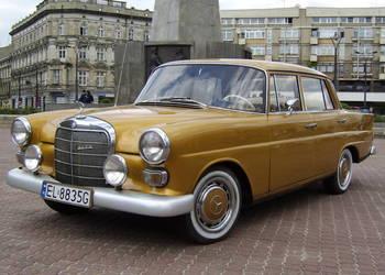 Zabytkowy złoty Mercedes do ślubu