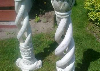 Świecznik drewniany rzeźbiony - DUŻY - 110CM