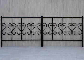 PŁOTEK metalowy ozdobny stalowy do ogródka 100x80 cm