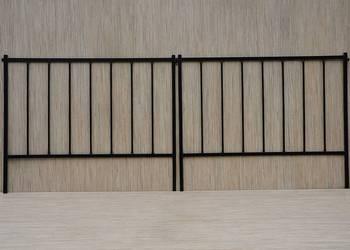 PŁOTEK metalowy palisada 100x80 cm obrzeże ogród