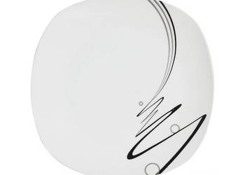 Talerz talerze deserowy wstęga serwis obiadowy