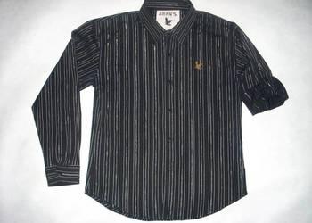 Aran's Koszula Męska Srebrne Paski Roll up L