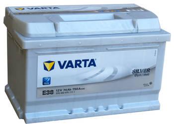 Akumulator VARTA SILVER 74Ah/750A E38