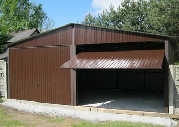 Garaż blaszany 6x5 Brąz, Garaże Mazowieckie montaż gratis