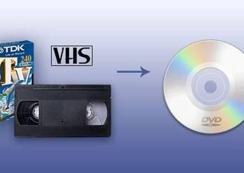 Przegrywanie kopiowanie kaset wideo VHS na płyty CD/DVD