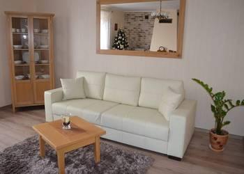 Kanapa sofa rozkładana prawdziwa skóra naturalna PRODUCENTNT