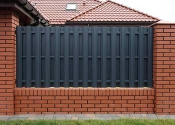 Przęsło ogrodzeniowe sztachetowe dwustronne alucynk+kolor