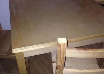lite drewno stół rozkładany