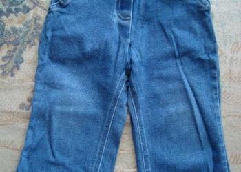 Spodnie jeansowe dla dziewczynki z kokardką z przodu