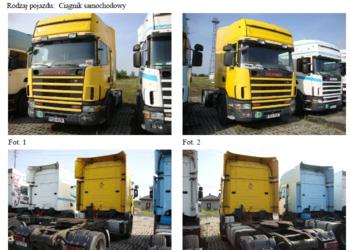 KONKURS OFERT ciągnik siodłowy SCANIA 7000 zł NETTO