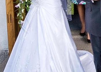 Sprzedam suknię ślubną (oraz halkę z kołem, bolerko i welon)