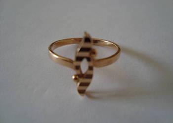 Złoty pierścionek roz.12