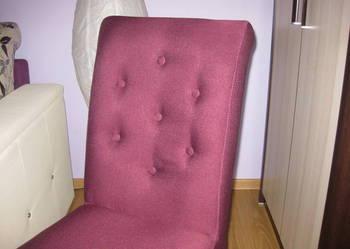 Krzesło pikowane tapicerowane wygodne modne eleganckie