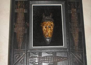 Afrykańska ozdoba maska w ramce dekoracja na ścianę model 3
