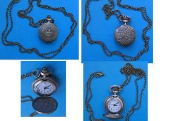 Rzadki zegarek kwarcowy damski z brązu-naszyjnik