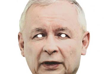 Maska papierowa Jarosław Kaczyński