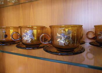 komplet serwis  filiżanek szklanek kawowy herbaciany z PRL