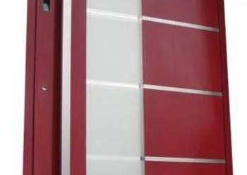Aluminiowe drzwi wejściowe z czytnikiem linii papilarnych