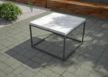 Beton architektoniczny - stolik blat betonowy , podstawa alu