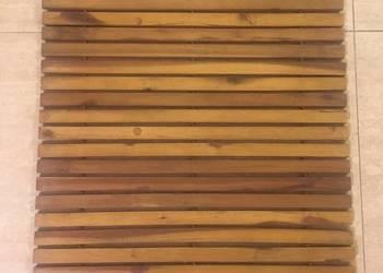Mata łazienkowa drewniana (drewno akacjowe olejowane)