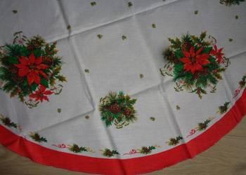 obrus świąteczny z betlejemskimi gwiazdami