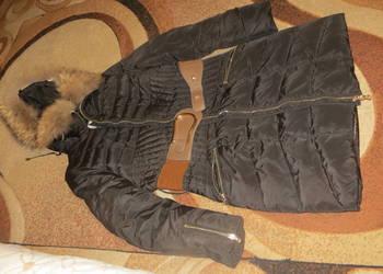 Puchowa kurtka zimowa z obszycie z lisa kur