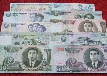 KOREA Kolekcjonerskie Banknoty Zestaw - 10 sztuk UNC
