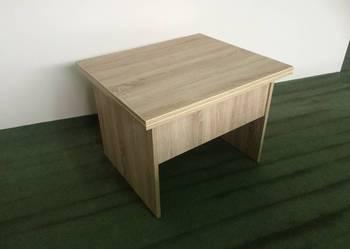 Mały zgrabny stolik rozkładany, ława, ławostół PIKO sonoma