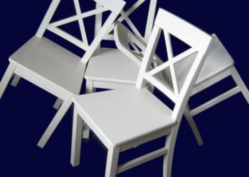 Krzesła krzyżowe w stylu prowansalskim, białe, MEGA PROMOCJA