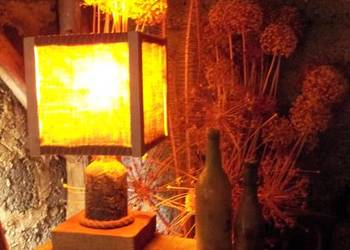 Lampa stojąca handmade upcykling rustykalna zero waste